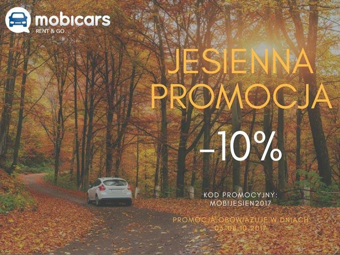 Jesienna promocja na wypożyczenie samochodu